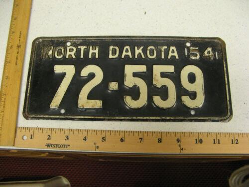 1954 54 NORTH DAKOTA ND LICENSE PLATE TAG #72-559