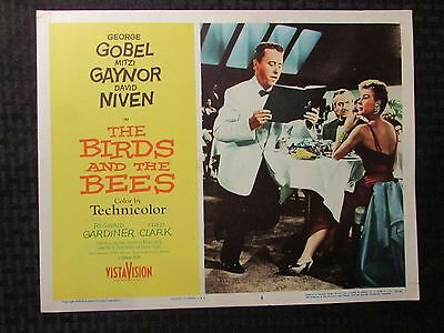 1956 BIRDS AND THE BEES Original 14x11 Lobby Card #3 VG+ 4.5 George Gobel