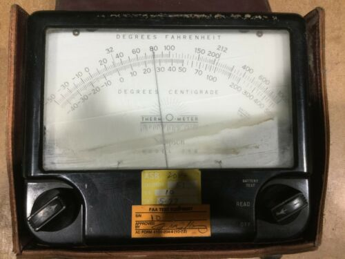 SIMPSON THERM-O-METER THERMOMETER MODEL 388 W/CASE