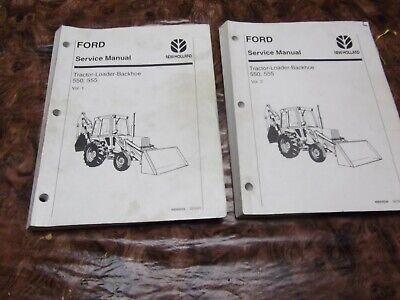 Ford 550 555 Tractor Loader Backhoe Shop Service Repair Manual Vol 12-holland