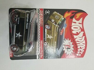 VOLKSWAGEN VW DRAG BUS - MILITARY POLICE  Hot Wheels RLC EXCLUSIVE 2009 CLUB CAR