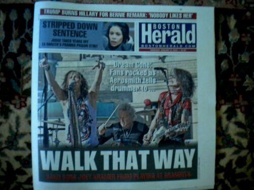AEROSMITH  Grammys Boston Herald Newspaper Cover 2020 Not Poster Walk that Way