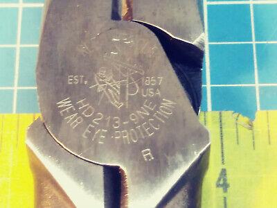 Klein Tools No D213-9ne Linemans Electricians Pliers Large Size Usa - Clean