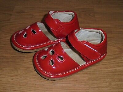 Boutique red patent leather shoes with strap infant size 4 Christmas Baby Patent Leather Shoes