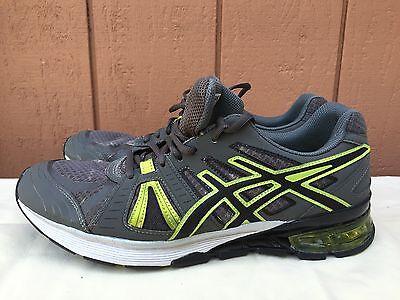 ASICS Men's GEL-DEFIANT 2 Charcoal/Black/Lime Cross-Training Shoes S527N US 10.5