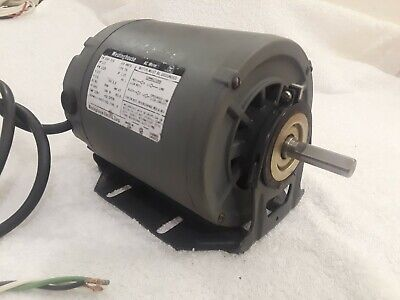 Westinghouse 13 Hp 1725 Rpm 120 Volt Single Phase Ac Motor W5ft Power Cord