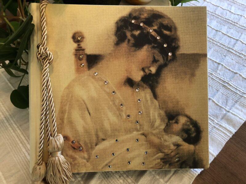 Terra Traditions Swarovski Beautiful Mother & Baby Album Book  200 4x6 Photos ✨