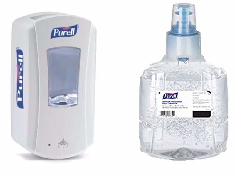 1Purell LTX Dispenser Touch Free With One 1903 Gel Refill (1200ml)