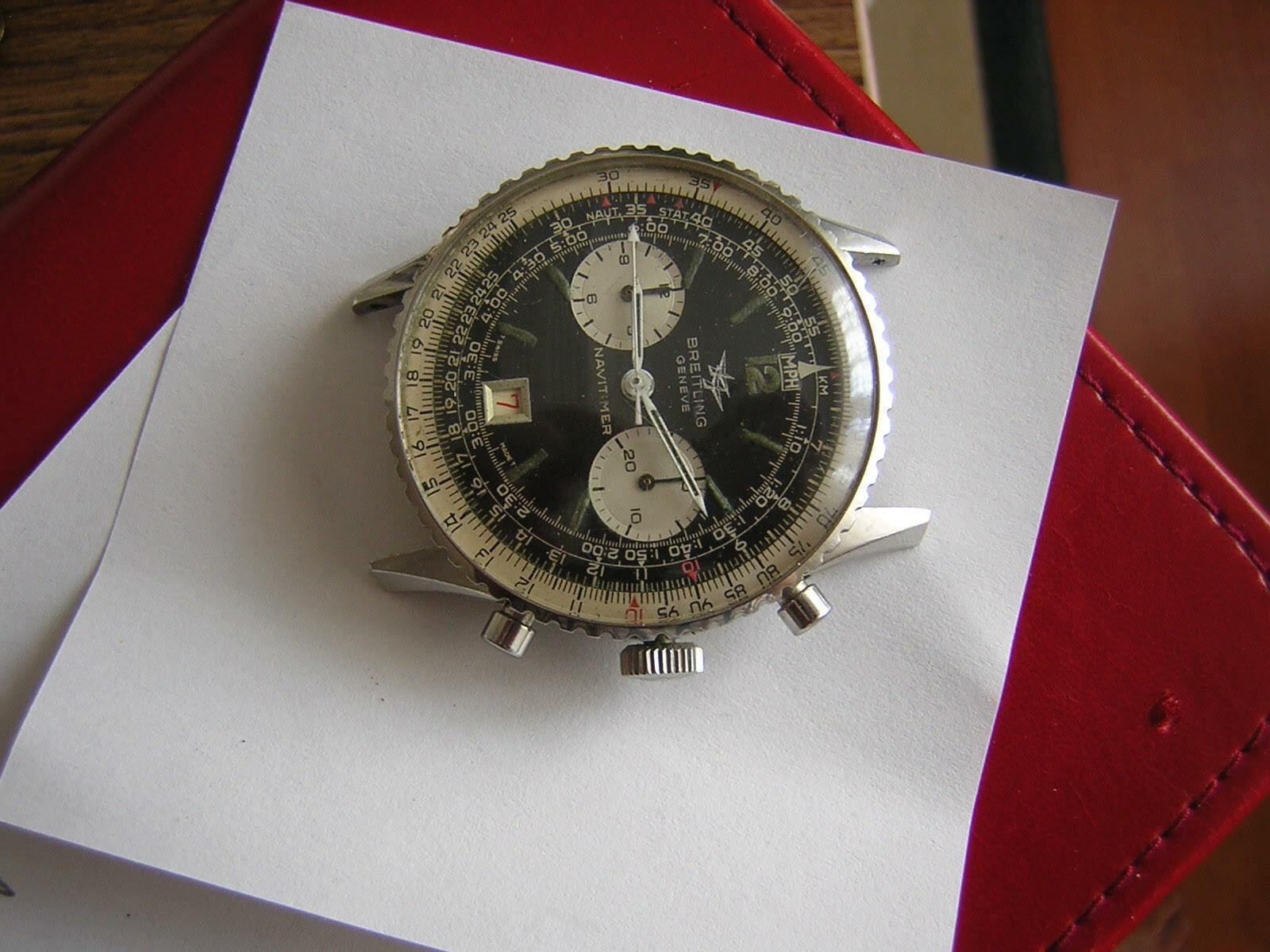 VINTAGE BREITLING NAVITIMER 7806-S 2 REGISTER IN EXCELLENT ORIGINAL CONDITION - watch picture 1