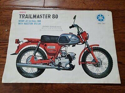 Vintage Yamaha Sales Brochure Advertisment for Trailmaster YG 1-T 80cc