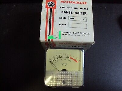 Vintage Monarch Panel Meter Pmc- S Range Vu-102c Made In Japan Nos