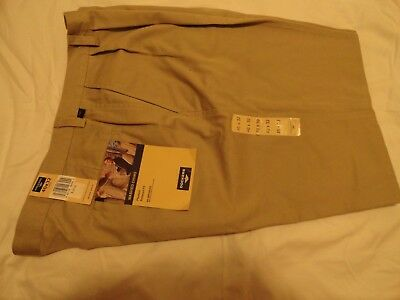 Dockers Washed Chino (DOCKERS WASHED CHINO PLEATED RELAX FIT MENS COTTON PANTS- KHAKI (38-40 x 31) NWT)