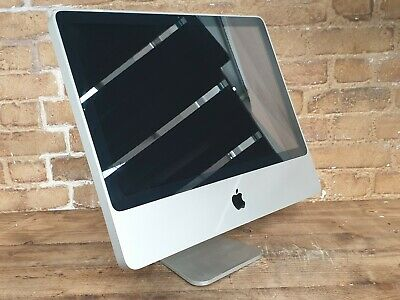 Apple iMac 20-Inch Core 2 Duo 2.40GHz 320GB HDD 4GM RAM Damaged screen 196229