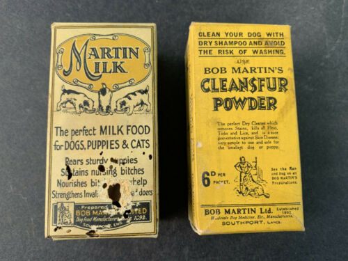 Vintage Veterinary Dog Puppy Cat Food and Fur Cleaner Advertising