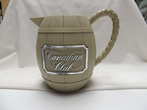 Canadian Club Whiskey Pitcher Vintage Plastic Barrel style