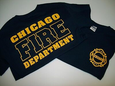Chicago Fire Tshirts (Chicago Fire TV Show Navy/Gold Tee)
