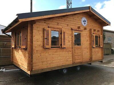 5.6m x 3.0m Tiny Home Glamping pod Park home Chalet Tent 6 Berth ex Display
