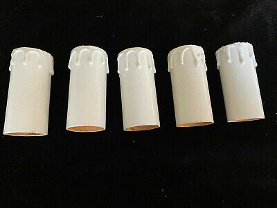 BRAND NEW UNUSED WHITE CARD CANDLE SLEEVES CHANDELIERS LIGHTING