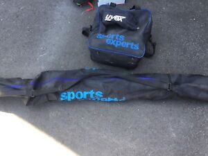 Full set of ski equipment