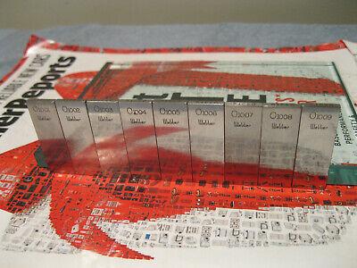 Starrett Webber Heavy Duty Gage Blocks .1001-.1009 9 Blocks Machinist Tools