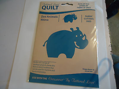 New Tattered Lace Quilt Zoo Animals Rhino Fabric Cutting Die