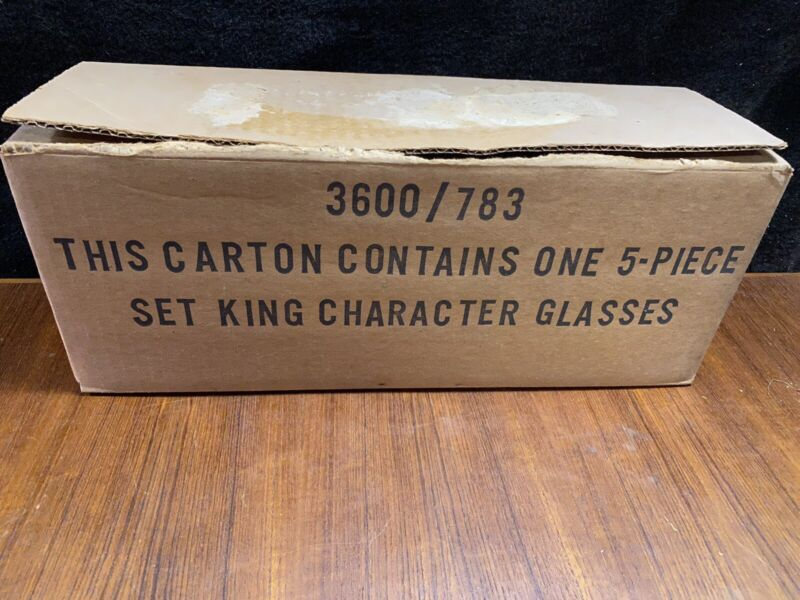 Complete set Of 5  1979 Burger King collectible glasses MIB