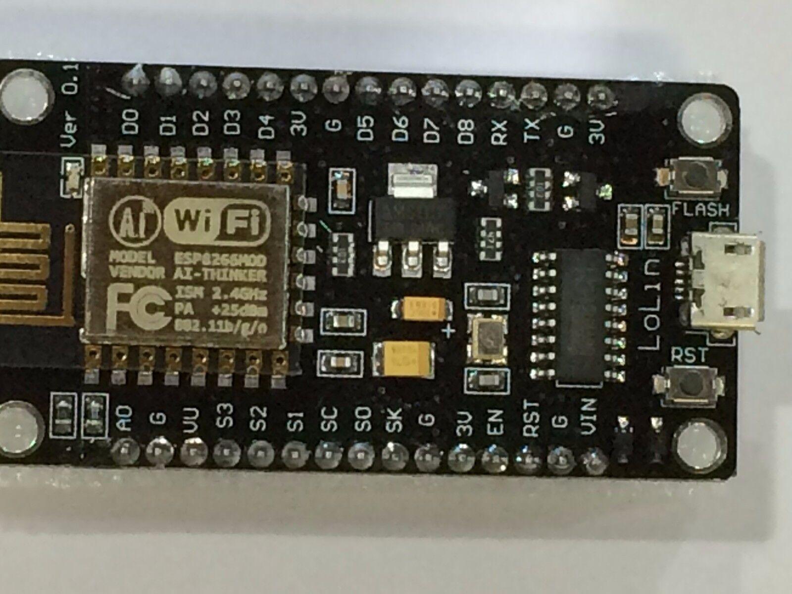 NodeMcu Lua ESP8266 CH340G WIFI Internet Development Board