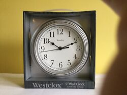 Westclox 46984 Silver Round Wall Clock 9 inch  Battery Operated