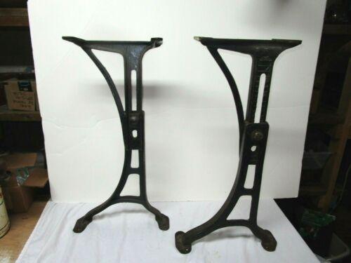 Antique Kenny Bros & Wolkins set #5 adjustable cast iron school desk legs