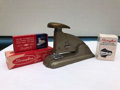Lot Of Vintage Swingline 1950s Industrial Speed Stapler Stapler Remover Staples