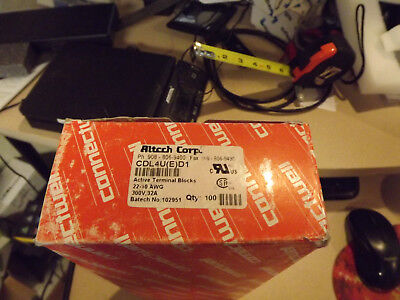Altech Cdl4ued1 Diode Circuit Terminal Block Lot Of 100 Free Shipping