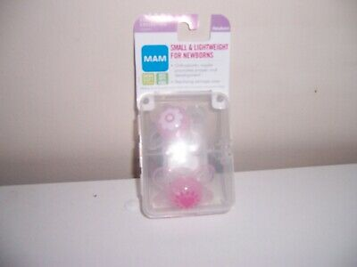 Mam small lightweight for newborn  PInk  pacifers. New