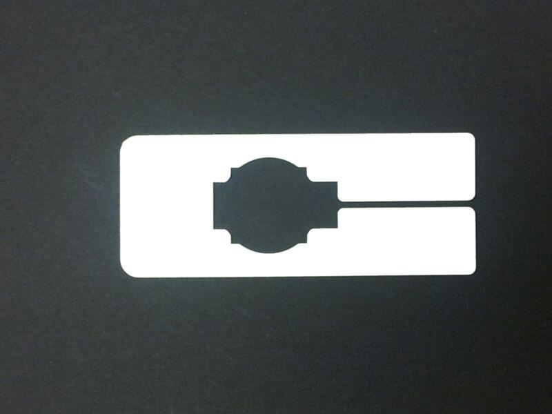 Plastic 100 Blank Rectangular Size Dividers for Retail Clothing Racks