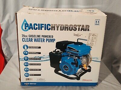 Pacific Hydrostar 79cc Gasoline Powered Clear Water Pump 69747 New