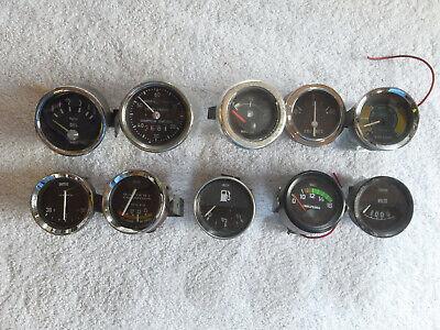 10x Smiths, VDO, Jaeger, Vetus gauges - vacuum ampere pressure volt hours fuel.