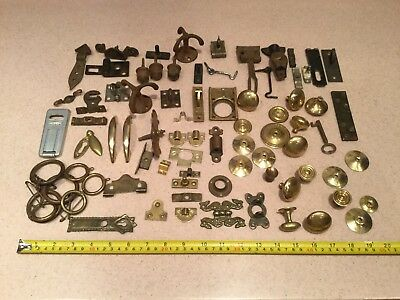 Vintage Furniture Handles Hardware Various Job Lot Brass Iron Old Architectural