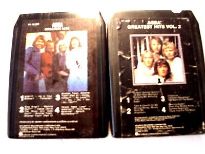 8 TRACK TAPES ABBA      SET OF 2       (571)