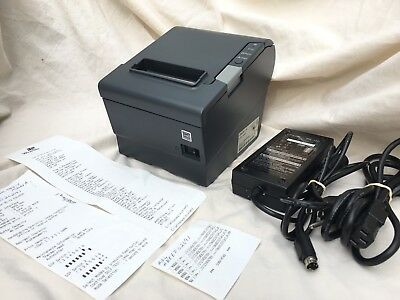 Epson Tm-t88v M244a Usb Thermal Receipt Printer Wps-180 Power Supply Usb Cable