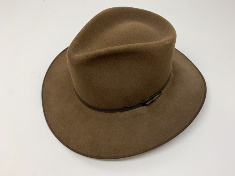 Resistol Self Comforting Hat NRA Edition (Size 7 3/8) Brown