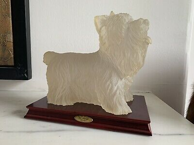 Resin Standing Westie Mounted on Wood Plinth La Anina Collection