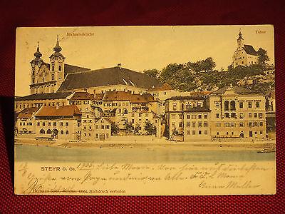 Farbkarte - Steyr - OÖ - gel. 1906 - guter Zustand