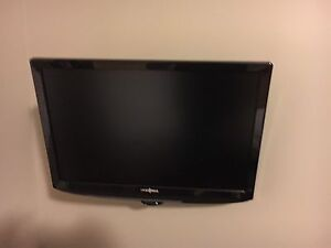 "2 22"" Insignia TVs with  full motion mounting bracket"