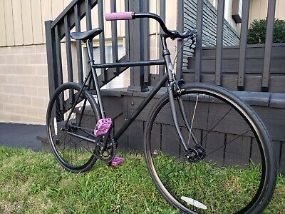 Pure Fix Fixed Gear Single Speed Bicycle Fixie Black Steel Frame 58cm