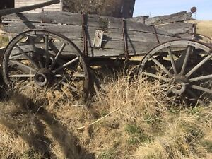 Antique Farm Wooden Wagons