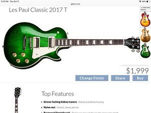 Looking for a Gibson Les Paul Classic in GREEN