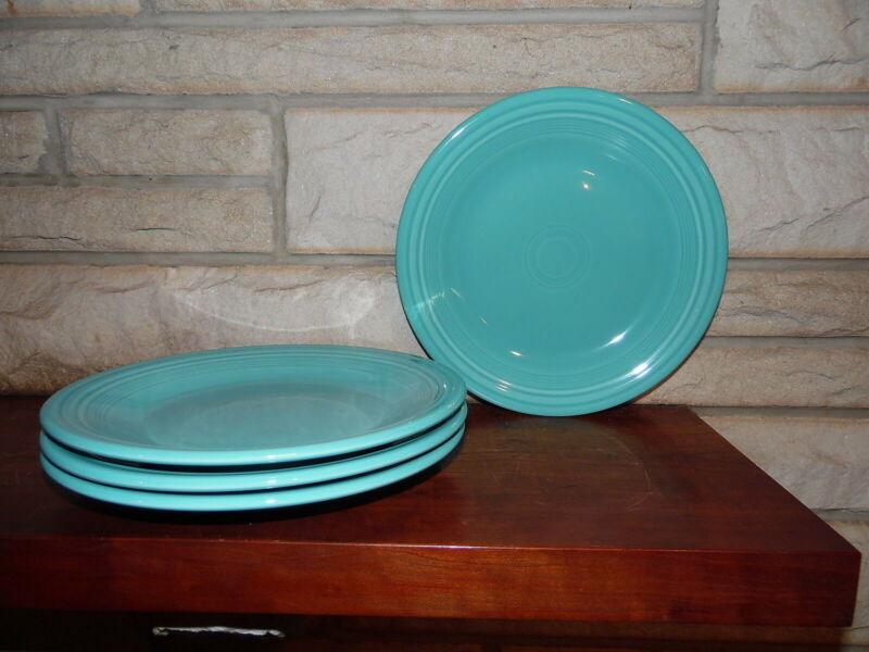 Fiesta 10.5 Dinner Plates turquoise set of 4 NEW  Fiestaware