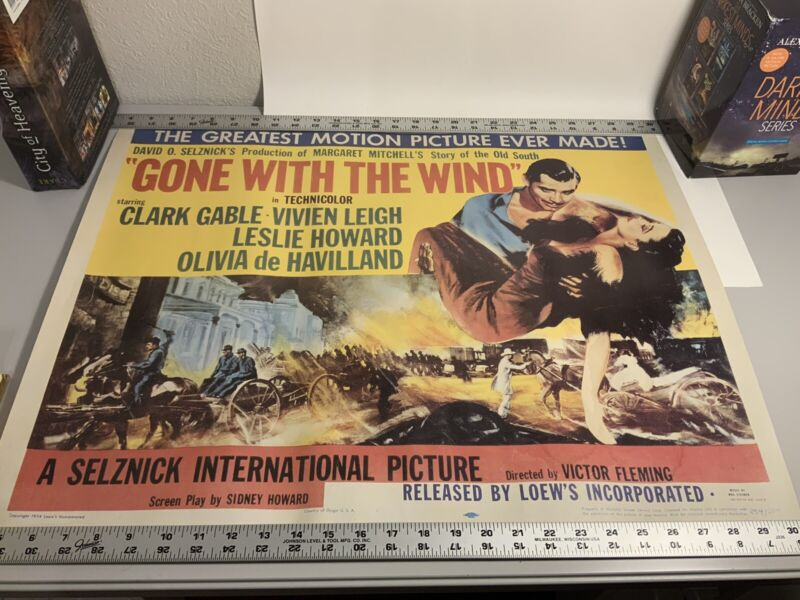 Vintage Original 1954 Gone With the Wind Movie Poster - Loew's Inc. -  R54/204