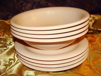 TUPPERWARE DUSTY ROSE DINNERWARE SET 4 PLATES, 4 BOWLS