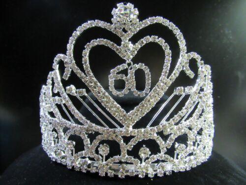 NEW Birthday Party Anniversary Rhinestone Heart Tiara Crown Comb Headpiece