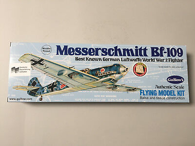 Guillow's ME 109 Messerschmitt BF-109 Holzbausatz Lasercut WWII Guillow Kit 505